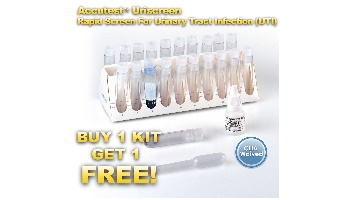 Accutest Uriscreen Rapid Screen for UTI  Buy 1 Kit, Get One Free!