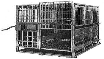 CHIMPANZEE RESTRAINT CAGE