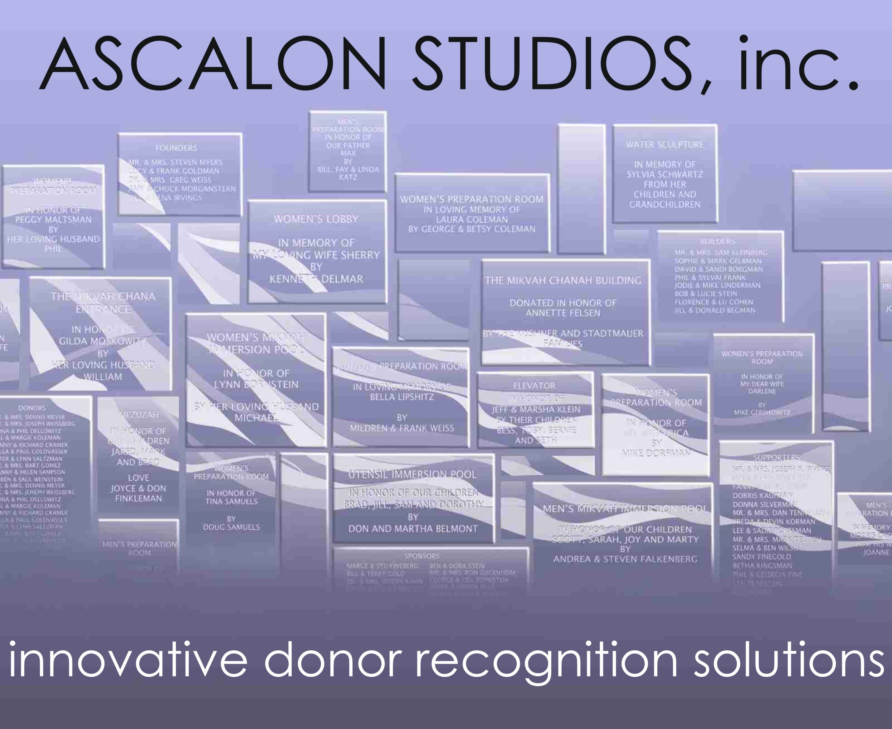 Ascalon Studios, Innovative Donor Recognition