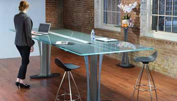 Tangent Standing Conference Table