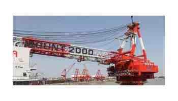 ZPMC 2000T Revolving Floating Crane Barge