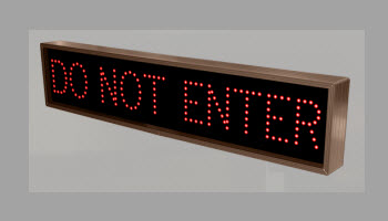 6104 (TCL734R-130) DO NOT ENTER LED Sign