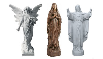 Statues from Rossato Giovanni srl