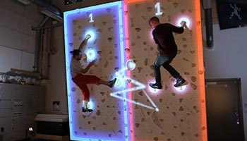 Augmented Climbing Wall with Spectrum Sports Intl