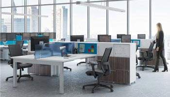 "Integrate sit-stand desking with style: Meet ""Flux"""
