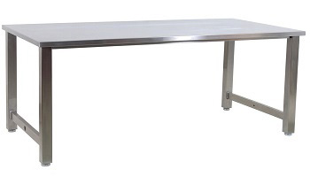 BenchPro Class 1 Cleanroom Grade 304 Stainless Steel Workbench with complete accessories