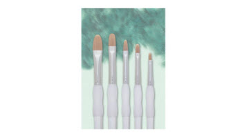 Royal Brush® Soft-Grip™ Golden Taklon Filbert Brush Set