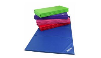 "1-3/8"" Folding Mat - 4' x 12' Pink"
