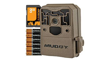 MUDDY OUTDOORS PRO 10 MTC100-K, TRAIL CAMERA BUNDLE W/ 6AA BATTERIES & 8GB CARD