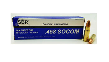 THE LEADING MANUFACTURER OF 458 SOCOM AMMUNITION FROM SBR AMMUNITION