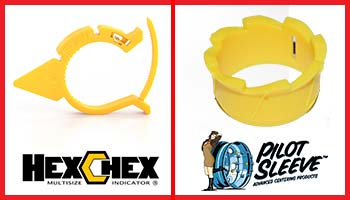 HexChex Multi-Size Loose Wheel Nut Indicators and Pilot Sleeve Wheel Centering Sleeves